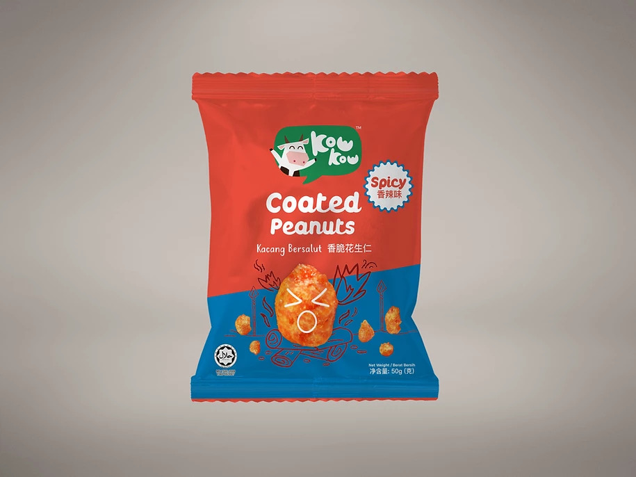 Coated Peanuts - Spicy (50g)
